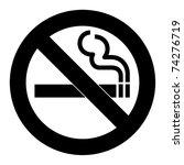 no smoking sign or symbol ... | Shutterstock . vector #74276719