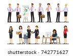 businessman character in the... | Shutterstock .eps vector #742771627