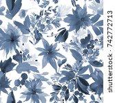 seamless christmas pattern for...   Shutterstock . vector #742772713