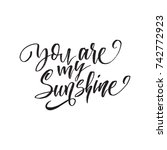 you are my sunshine.... | Shutterstock .eps vector #742772923