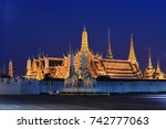 wat phra kaew  temple of the...   Shutterstock . vector #742777063