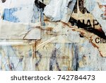 old posters grunge textures and ... | Shutterstock . vector #742784473
