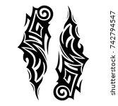 tattoo tribal vector design.... | Shutterstock .eps vector #742794547