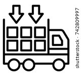 logistics consolidation vector...   Shutterstock .eps vector #742809997