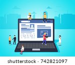 social network web site surfing ... | Shutterstock . vector #742821097