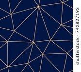 polygonal seamless background.... | Shutterstock .eps vector #742827193