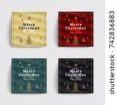 set 1 of christmas social media ... | Shutterstock .eps vector #742836883