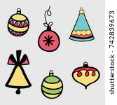 holiday icons  patches ... | Shutterstock .eps vector #742839673