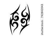 tattoo tribal vector design.... | Shutterstock .eps vector #742842043