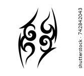tattoo tribal vector designs.... | Shutterstock .eps vector #742842043