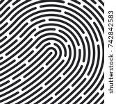 fingerprint pattern. vector...   Shutterstock .eps vector #742842583