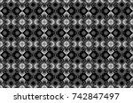 raster black  white and gray... | Shutterstock . vector #742847497