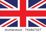 british flag vector | Shutterstock .eps vector #742867327