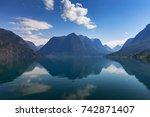oppstrynsvatn  strynevatnet ... | Shutterstock . vector #742871407
