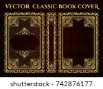 vector classical book cover.... | Shutterstock .eps vector #742876177