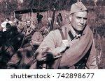 the soviet military  september... | Shutterstock . vector #742898677