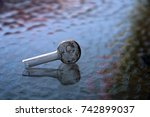 crystal meth pipe. a glass pipe ...   Shutterstock . vector #742899037