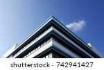 top of the building with clouds ... | Shutterstock . vector #742941427