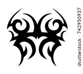 tattoo tribal designs. sketched ... | Shutterstock .eps vector #742950937