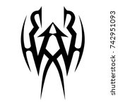 tattoo tribal vector design.... | Shutterstock .eps vector #742951093