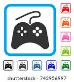 gamepad icon. flat grey iconic...