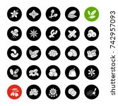 spices glyph icons set.... | Shutterstock . vector #742957093