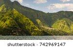 scenic view of santa cruz... | Shutterstock . vector #742969147