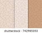 polygonal brown and white... | Shutterstock .eps vector #742985353