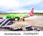 krabi thailand   october 14 ... | Shutterstock . vector #742996597