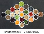 health food concept to boost... | Shutterstock . vector #743001037