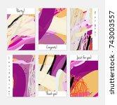 hand drawn creative universal... | Shutterstock .eps vector #743003557