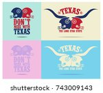 don't mess with texas with... | Shutterstock .eps vector #743009143