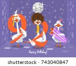 two goose holding the number 92....   Shutterstock .eps vector #743040847