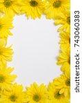 flower frame isolated on white. | Shutterstock . vector #743060383