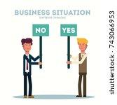 business concept. different... | Shutterstock .eps vector #743066953