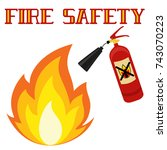fire safety poster isolated on... | Shutterstock .eps vector #743070223