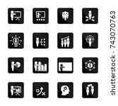 business training icon set | Shutterstock .eps vector #743070763