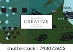 minimal universal banner... | Shutterstock .eps vector #743072653