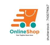 logo template   shopping. the...   Shutterstock .eps vector #743079067