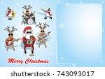 christmas background. santa ... | Shutterstock .eps vector #743093017