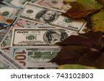 Small photo of Stock exchange with money, contribution to capital.