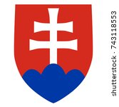 slovakian coat of arms ... | Shutterstock .eps vector #743118553