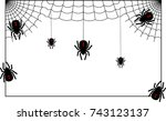 vector illustration of spider... | Shutterstock .eps vector #743123137