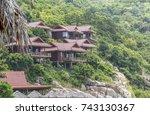 resort on the island of koh tao....   Shutterstock . vector #743130367