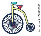 circus bicycle icon. cartoon...