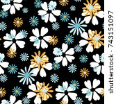 small floral pattern. cute... | Shutterstock .eps vector #743151097