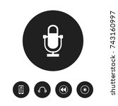 set of 5 editable sound icons....