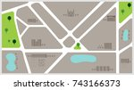 town map background vector... | Shutterstock .eps vector #743166373