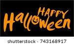 illustration of a halloween...   Shutterstock .eps vector #743168917