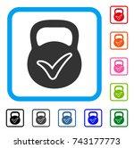 valid iron weight icon. flat... | Shutterstock .eps vector #743177773